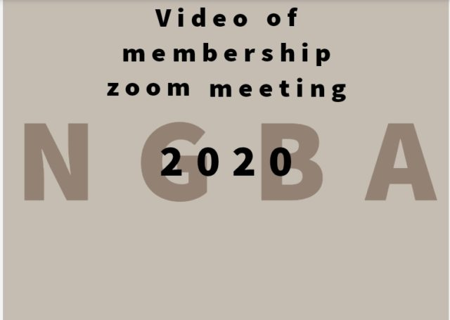 Recorded Annual NGBA Membership Zoom